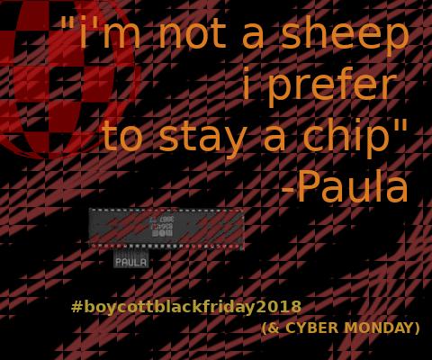 be like paula – #boycottblackfriday2018 (and cyber monday)
