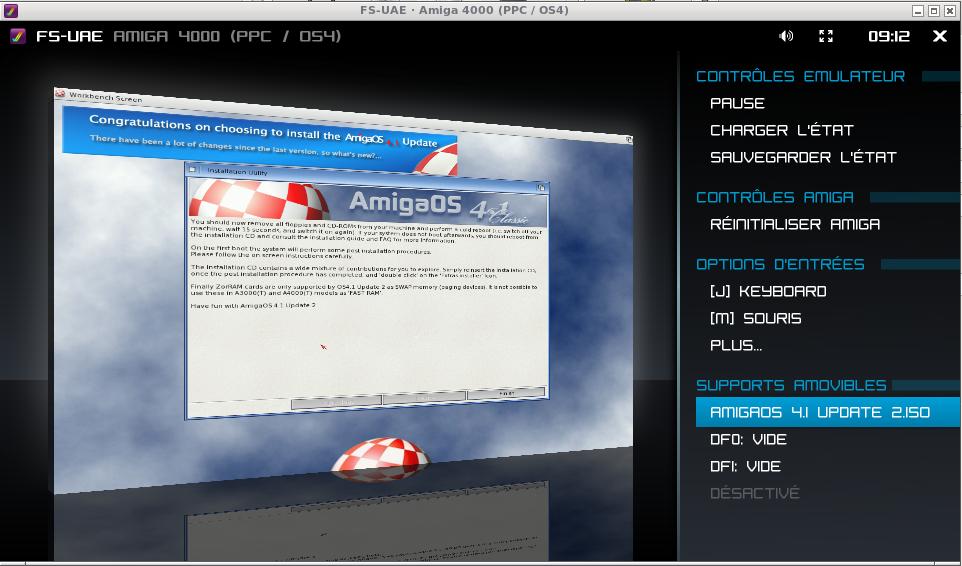 emulating Amiga OS 4 1 with fs-uae under linux