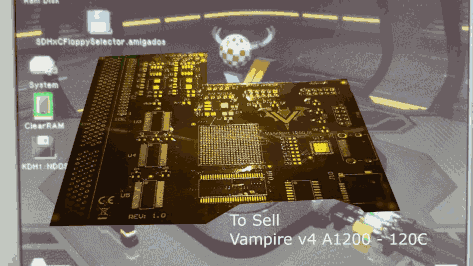 To sell – Vampire V4 for Amiga 1200 – 120€