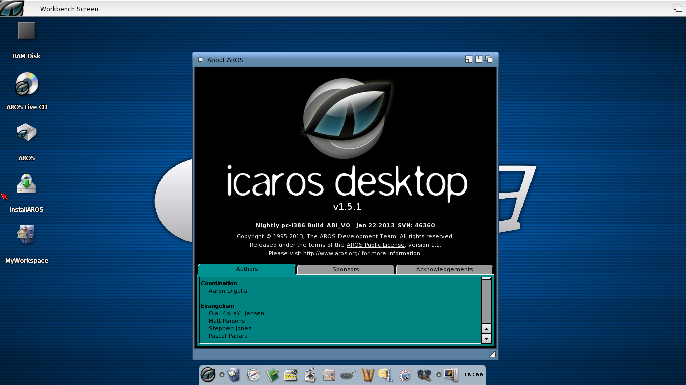 icaros desktop native installation advices, bios and grub parameters